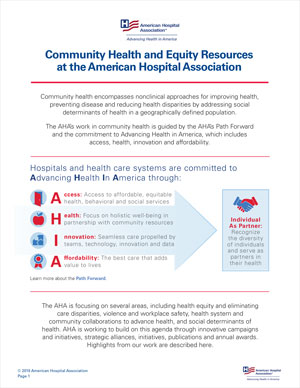 Community Health and Equity Resources at the American Hospital Association
