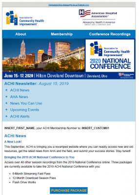 ACHI Newsletter